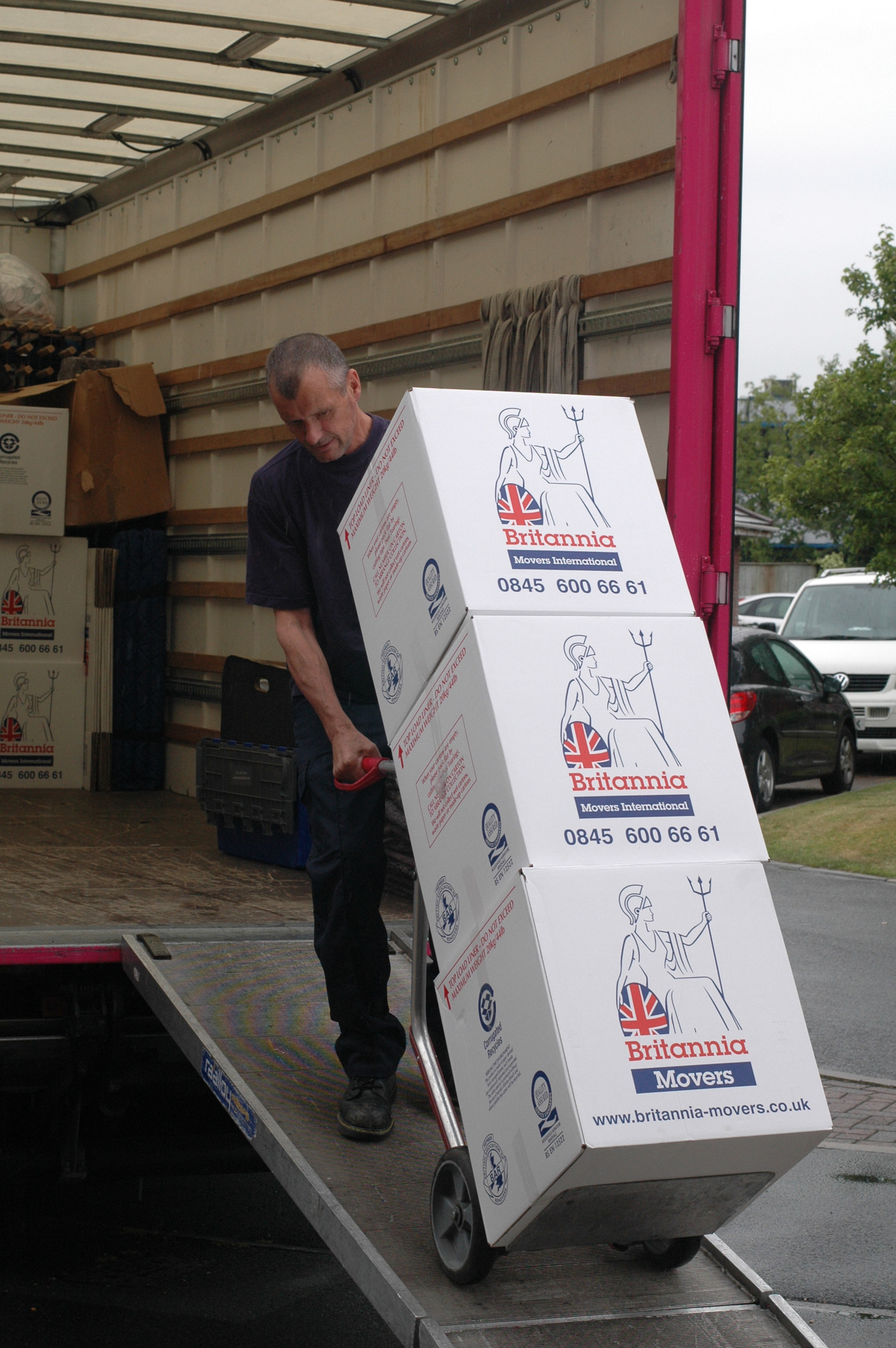 Loading cartons Moving Flat Pack Furniture Britannia Bradshaws